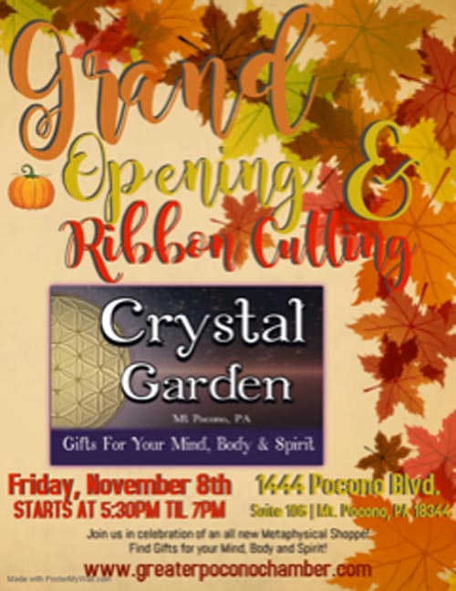 Grand Opening night and Ribbon Cutting of Crystal Garden metaphysical store
