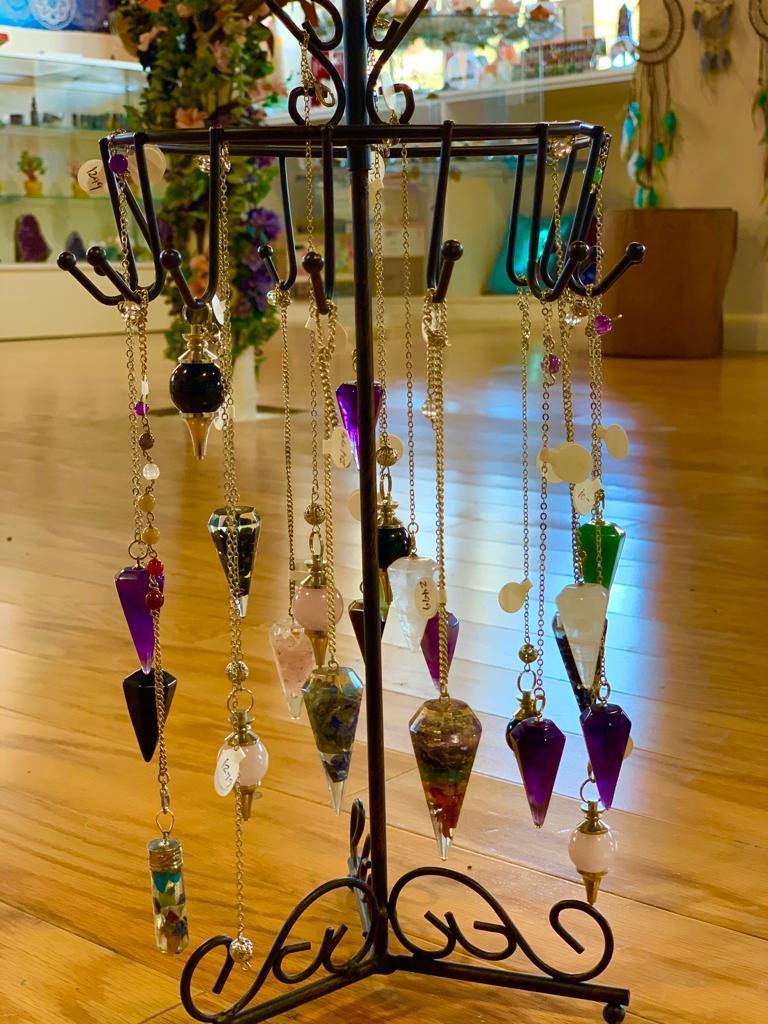 Pendulums at Crystal Garden metaphysical store