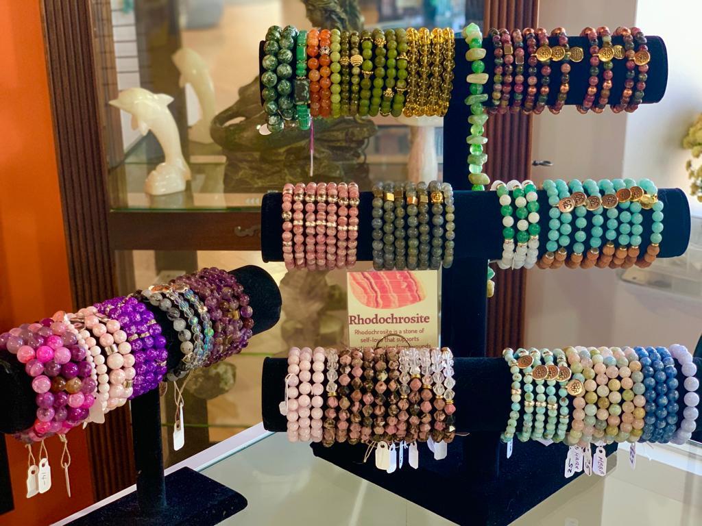 Reikiwear bracelets at Crystal Garden metaphysical store