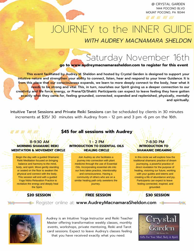 Journey to Inner Guide workshop with Audrey Sheldon flyer