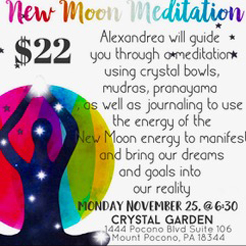 New Moon Meditation workshop with Alexandra at Crystal Garden